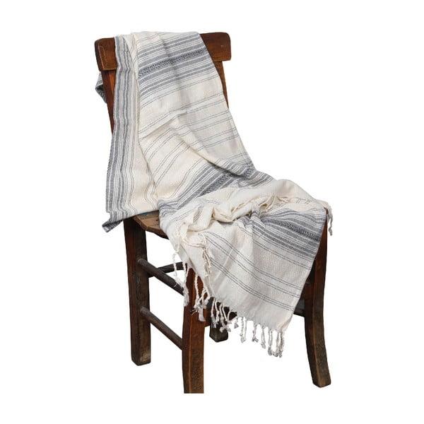 Szary ręcznik hammam Artemis Grey, 90x190cm