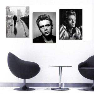 Trzyczęściowy obraz James Dean, 45x90 cm