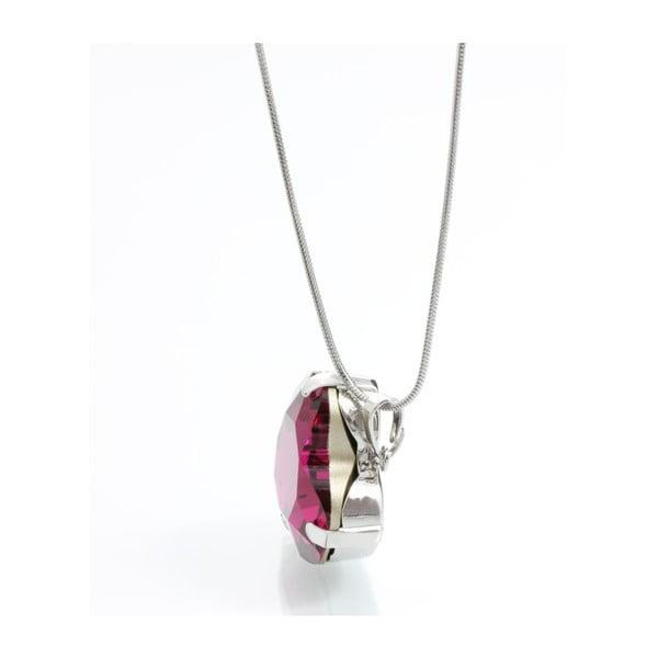 Naszyjnik Swarovski Heart Fuchsia, 45 cm