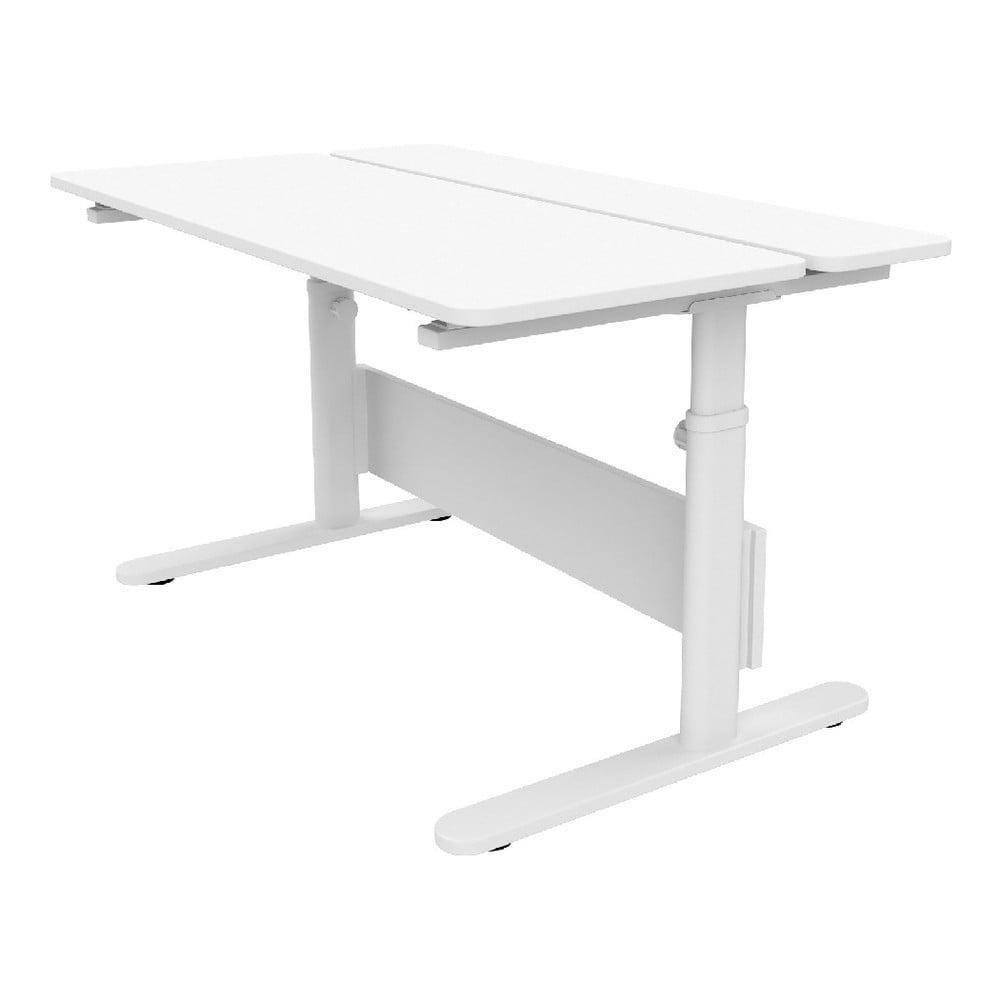 Białe biurko z regulowaną wysokością Flexa Evo Split