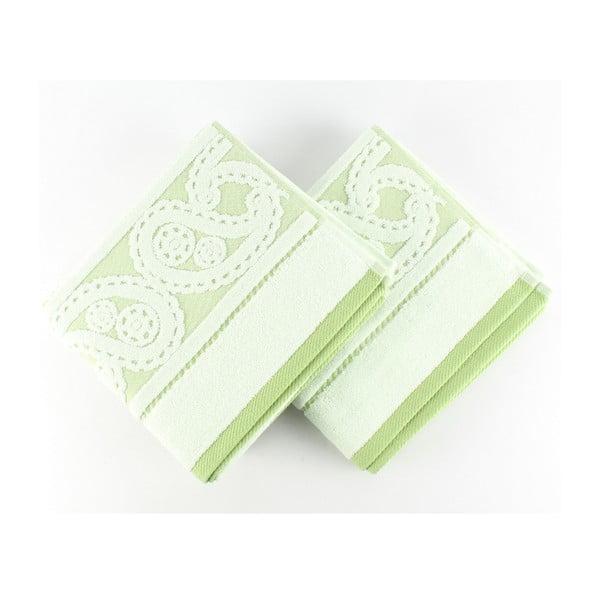 Zestaw 2 ręczników Hurrem Green, 50x90 cm