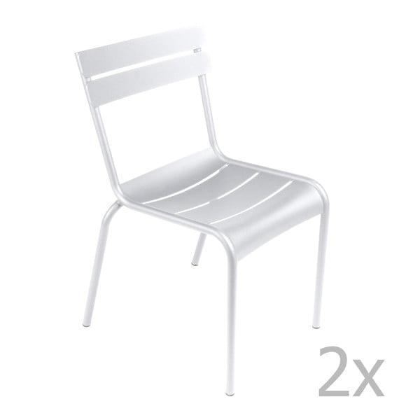 Zestaw 2 białych krzeseł Fermob Luxembourg
