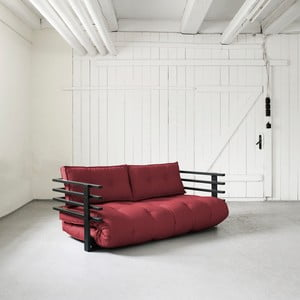 Sofa rozkładana dwuosobowa Karup Funk Black/Bordeaux