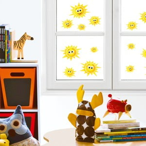 Naklejka na okno Słoneczka