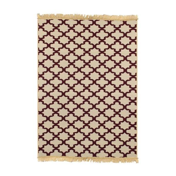 Bordowo-beżowy dywan Ya Rugs Yildiz, 80x150cm
