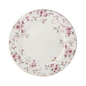 Biały talerz porcelanowy Creative Tops Ditsy,Ø26,5cm