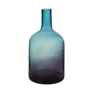 Niebieski wazon kryształowy Santiago Pons Ryde, wys. 35 cm