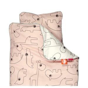 Różowa pościel dziecięca Done by Deer Contour, 80x100cm