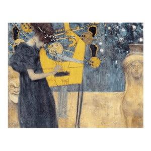 Reprodukcja obrazu Gustava Klimta - Music, 90x70 cm