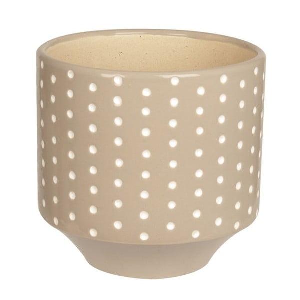 Doniczka ceramiczna Present Time Dots Warm Grey