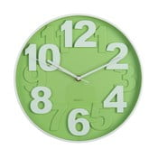 Zielony zegar ścienny Ixia