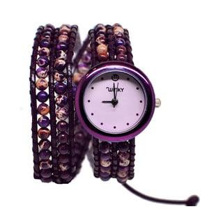 Zegarek z koralikami Double, Purple Haze Jasper