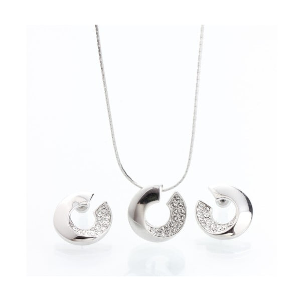 Komplet naszyjnika i kolczyków z kryształami Swarovski Elements Laura Bruni Atola