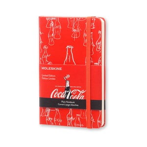 Notatnik Moleskine Coca-Cola, mały, czyste strony