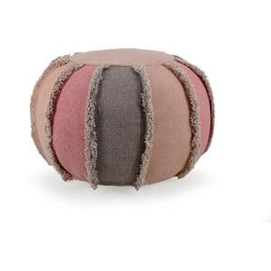 Różowy puf z bawełny Moycor Cairo, 50x50x40 cm