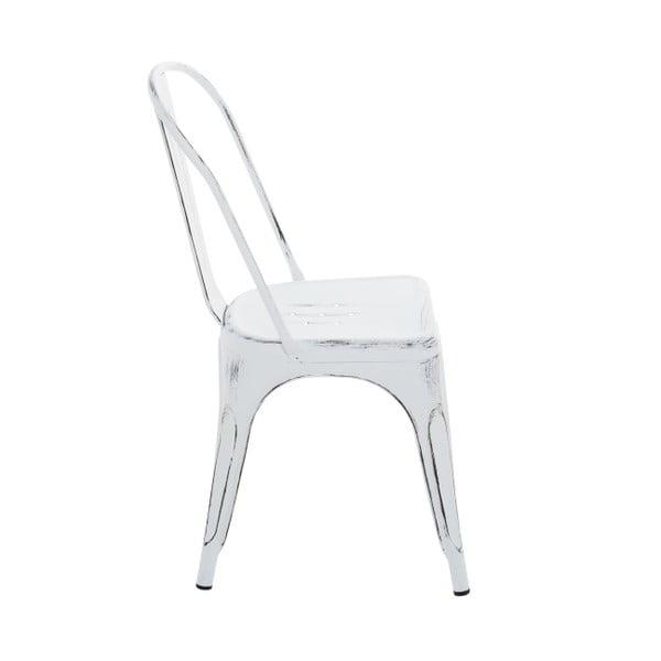 Krzesło metalowe InArt Antique, białe
