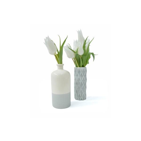 Beżowo-niebieski wazon Hawke&Thorn Parker