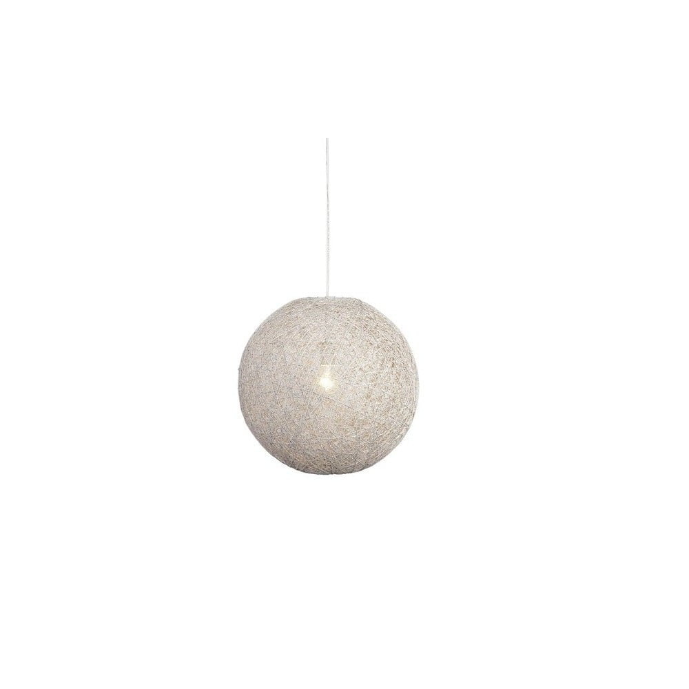 Biała lampa wisząca LABEL51 Twist, ⌀ 45 cm
