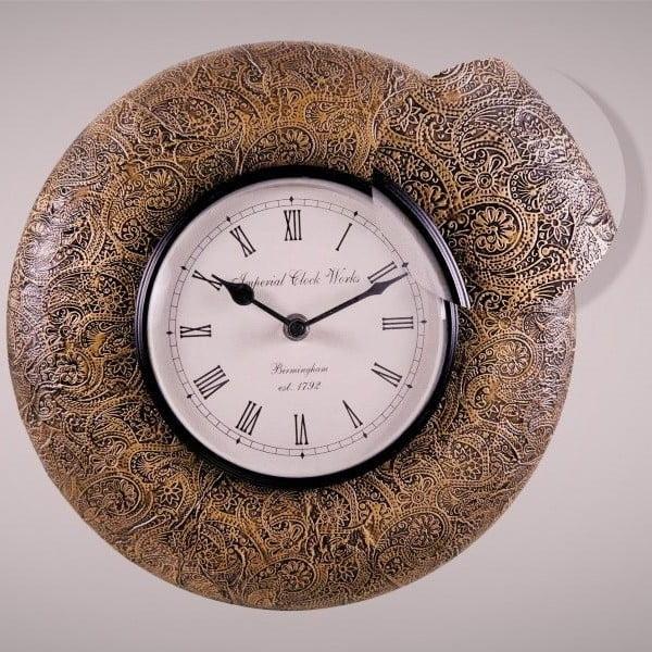 Zegar naścienny, delikatny wzór