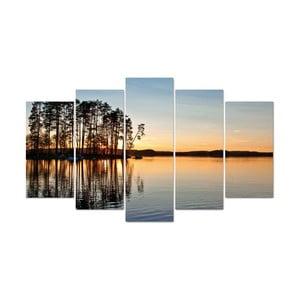 5-częściowy obraz Morning, 60x100 cm