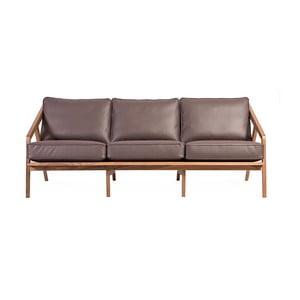 Brązowa sofa trzyosobowa Charlie Pommier Serious
