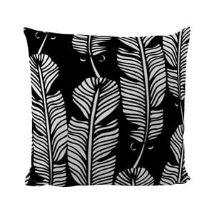 Poduszka Black Shake White Feathers, 50x50 cm