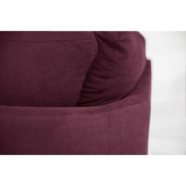 Sofa narożna Jalouse Maison Irina, lewy róg, bordowa