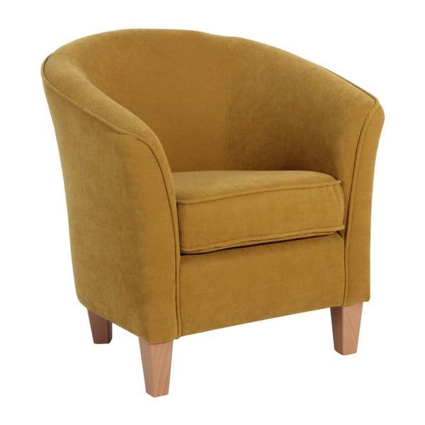 Żółty fotel Max Winzer Livia