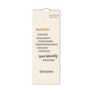 Kalendarz podłużny Portico Designs Sincerely Yours