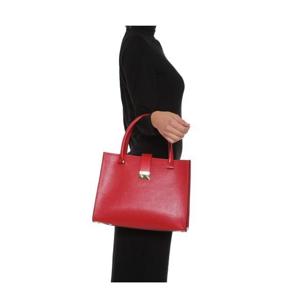 Skórzana torebka Anna Luchini 448 Rosso