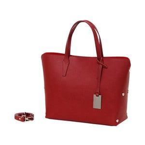Czerwona torebka skórzana Andrea Cardone Dettalgio