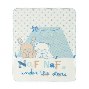 Dětská deka s modrými detaily Naf Naf Under The Stars, 110x140cm