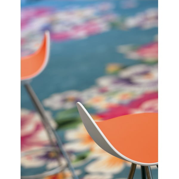Stołek Onda 66 cm, pomarańczowy/błyszczące nogi