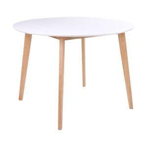 Okrągły stół z białym blatem loomi.design Vojens