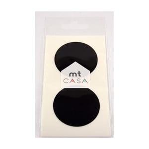 Zestaw 10 czarnych naklejek washi MT Masking Tape Casa
