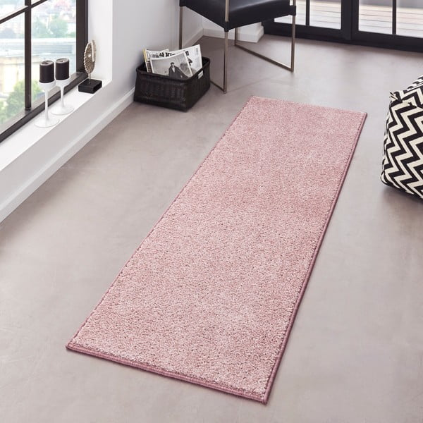 Różowy dywan Bougari Pure, 80x150 cm