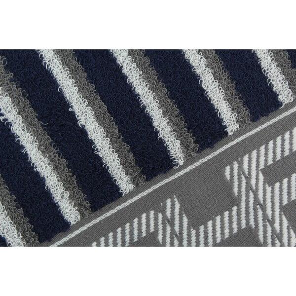 Ręcznik bawełniany BHPC 50x100 cm, szaro-niebieski