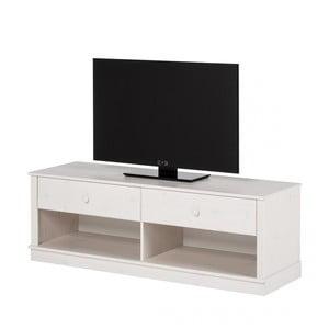 Biała szafka pod TV z drewna sosnowego Støraa Annabelle