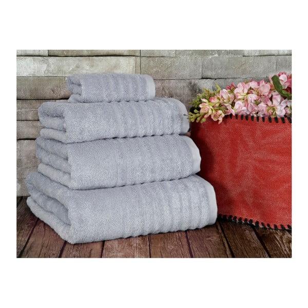 Szary ręcznik Irya Home Wellas Bamboo, 30x50 cm