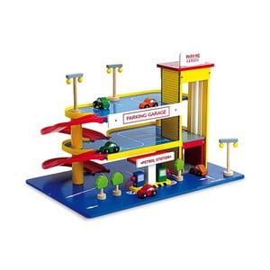 Drewniany parking piętrowy dla dzieci Legler Car Park