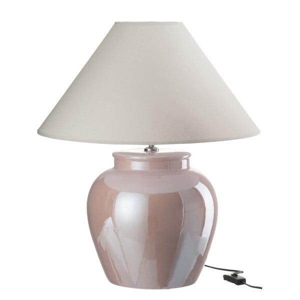 Różowa lampa stołowa z kloszem J-Line