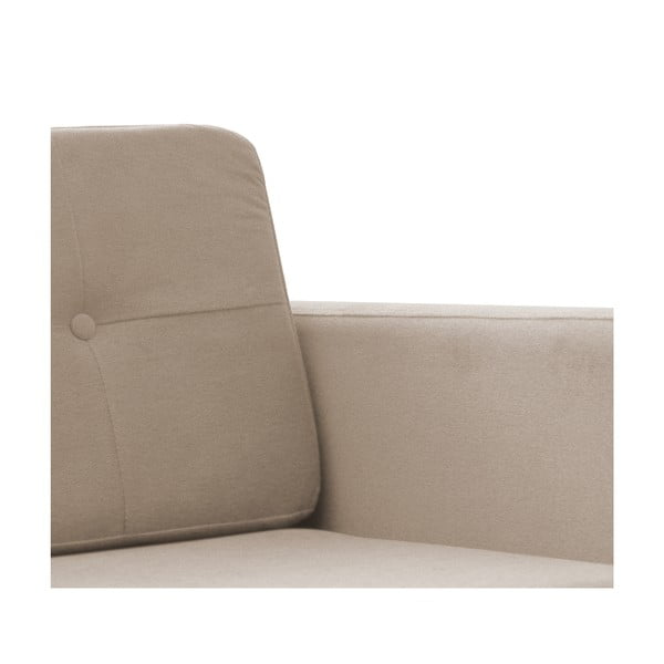 Beżowa sofa trzyosobowa z naturalnymi nogami Vivonita Sondero