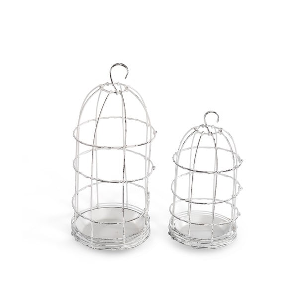 Lampion Bird Cage Light 19 cm, biały