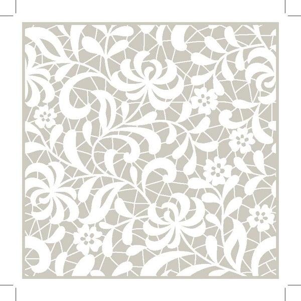 Zestaw 2 mat stołowych Grey Decor, 20x20 cm