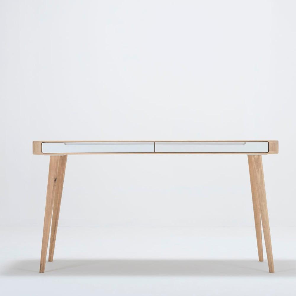 Biurko z drewna dębowego Gazzda Ena, 140x60x75 cm