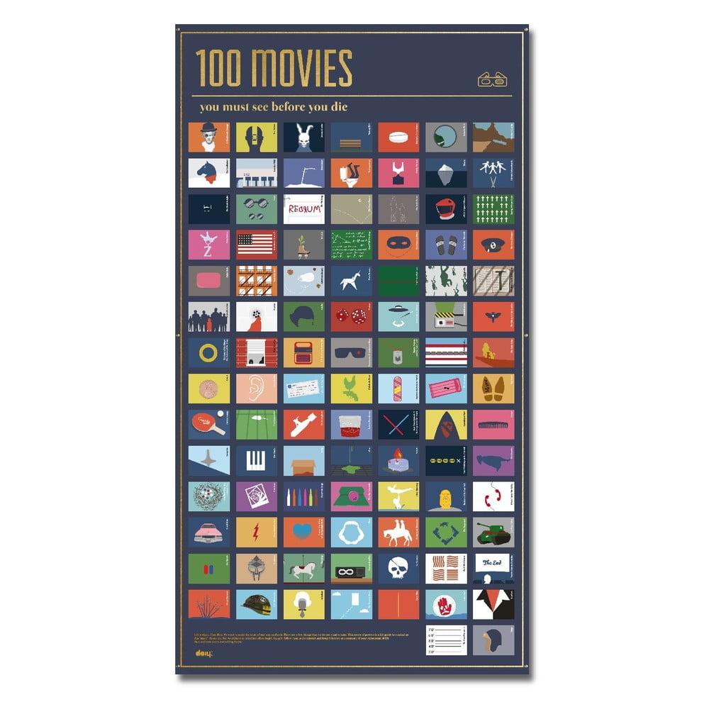 Plakat 100 Filmów Które Musisz Obejrzeć Bonami