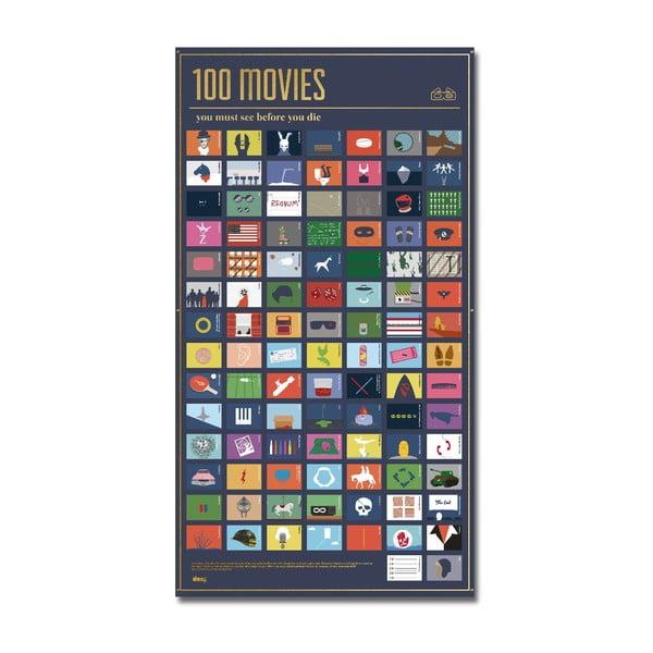 Plakat 100 filmów, które musisz obejrzeć