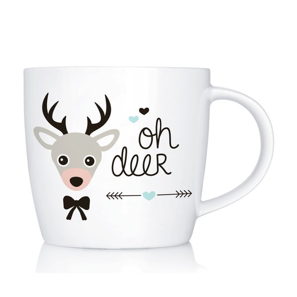 Porcelanowy kubek Oh Deer, 300 ml