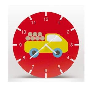 Zegar ścienny Bruno, czerwony