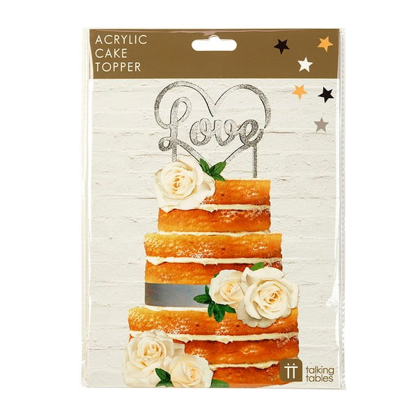 Dekoracja na tort Love Silver